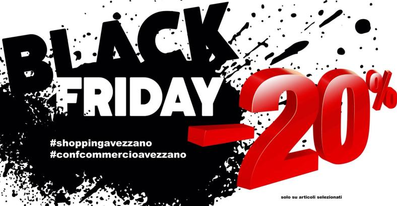 COMMERCIO: ELENCO NEGOZI BLACK FRIDAY AVEZZANO